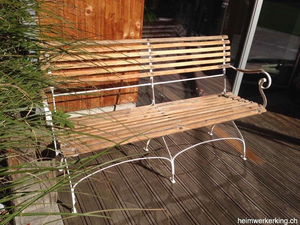 Gartenbank Holz Restaurieren ~ Auf meinem schönen Antiken restauriertem Bank lässt es sich gut