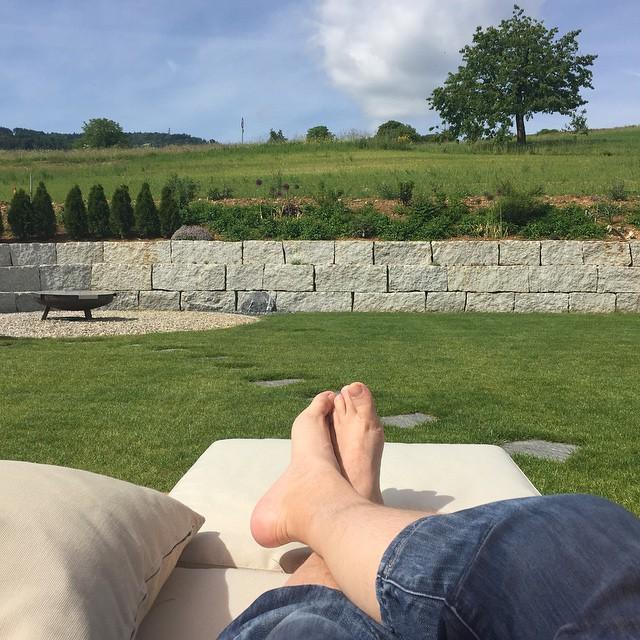 Relaxen auf der Paletten Longe