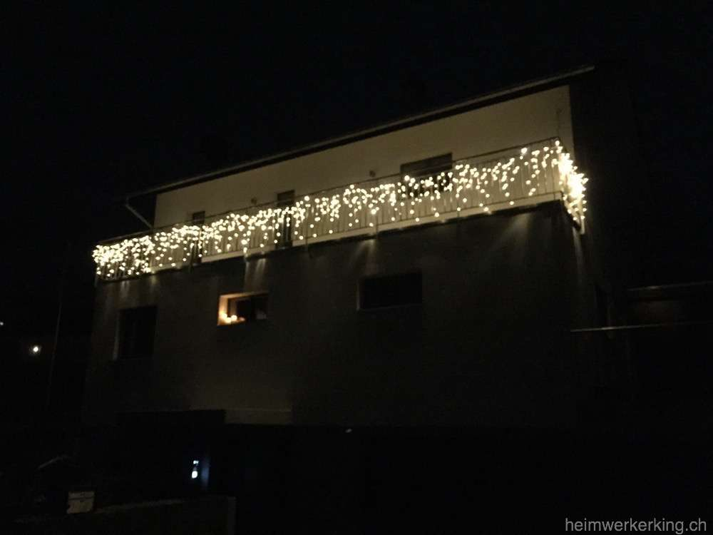 Weihnachtsbeleuchtung Für Balkongeländer.Weihnachtsbeleuchtung Für Euer Heimwerkerhaus