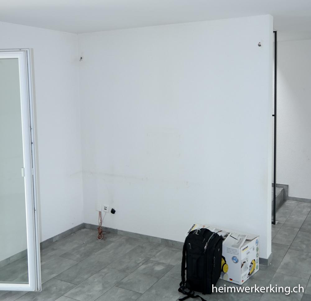 TV-Wand mit Steinverblender ohne sichtbare Kabel bauen