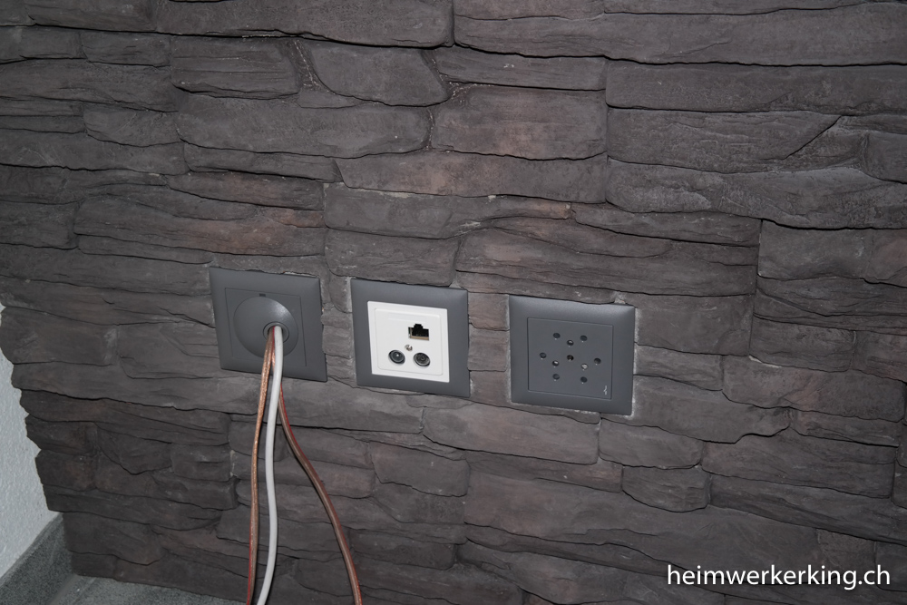 tvwand mit steinverblender ohne sichtbare kabel bauen. Black Bedroom Furniture Sets. Home Design Ideas