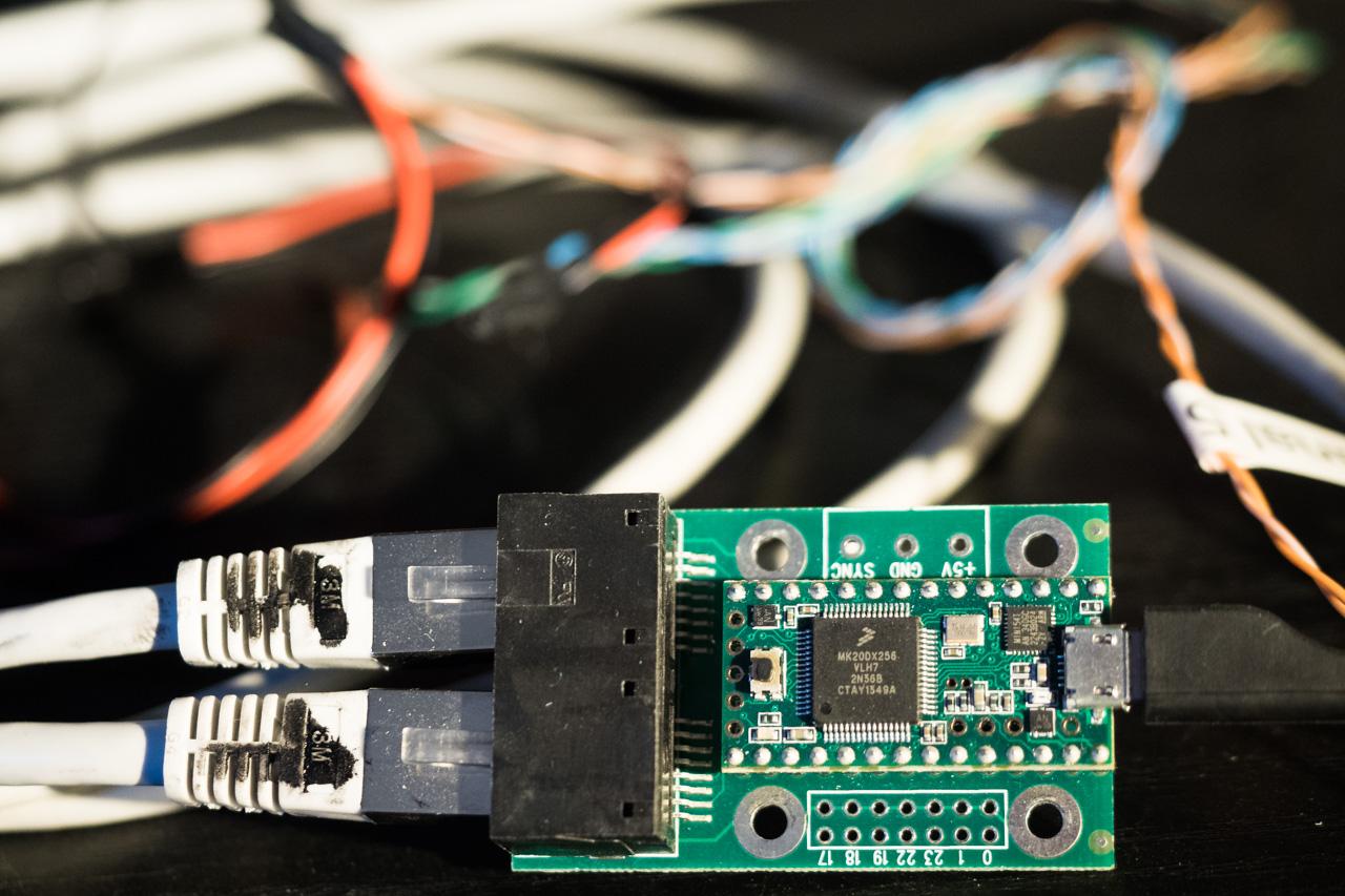 Mikroprozessor Teensy 3.1 mit OctoWS2811 Adapter Platine
