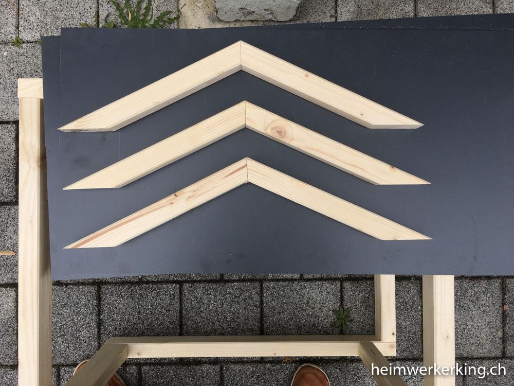 Dachkonstruktion für Automower Garage vorbereiten