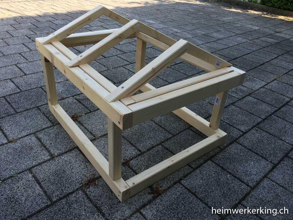Eigenbau Garage für Husqvarna Automower mit abnehmbarem Dach