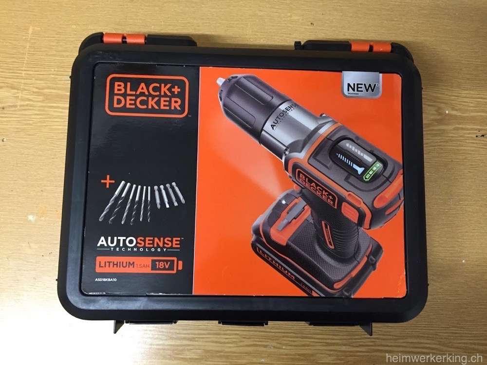 tool time black decker 18 volt akku schrauber asd18k im test heimwerkerking. Black Bedroom Furniture Sets. Home Design Ideas