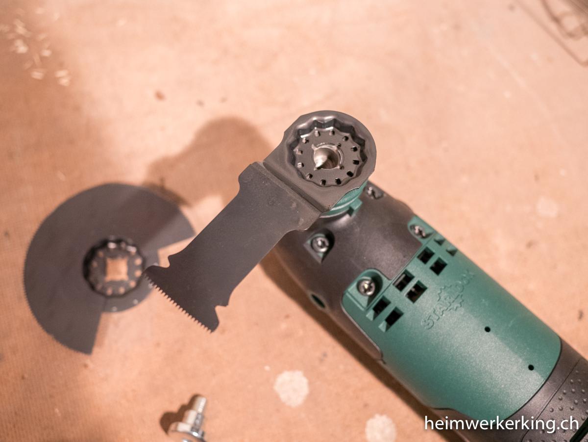 Bosch PMF 220 CE - Werkzeugwechsel