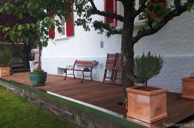 Auf der neuen Terrasse lassen sich die Sommerabende geniessen